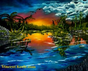 Tranquil Lake by artist Vincent Keele